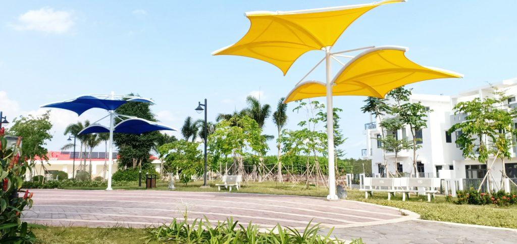 Thiết kế thi công mái che tại khu đô thị Viva Park