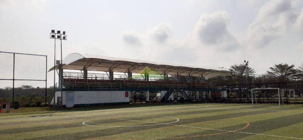 Dự án thiết kế thi công mái che sân bóng Trảng Bom Đồng Nai